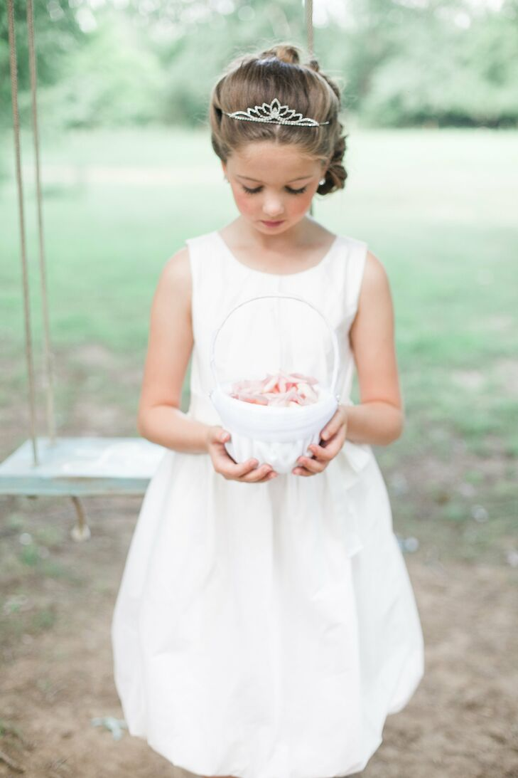 Classic, White Dress Flower Girl
