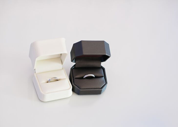 Simple Solid and Pave Diamond Wedding Rings