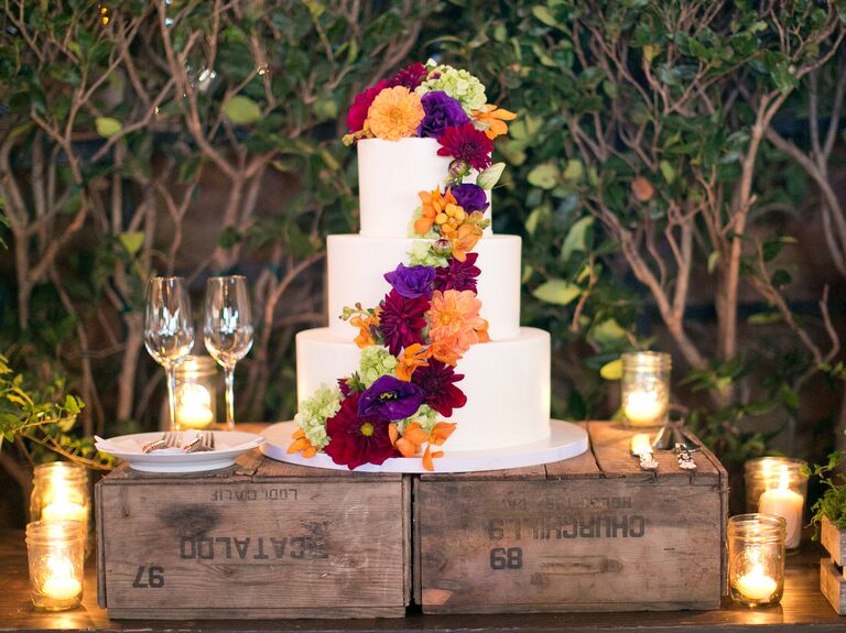 Fall weddings fall inspired cakes real weddings fall weddings fall wedding cake flavors junglespirit Choice Image