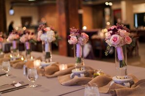 Pink Rose Bridesmaid Bouquets