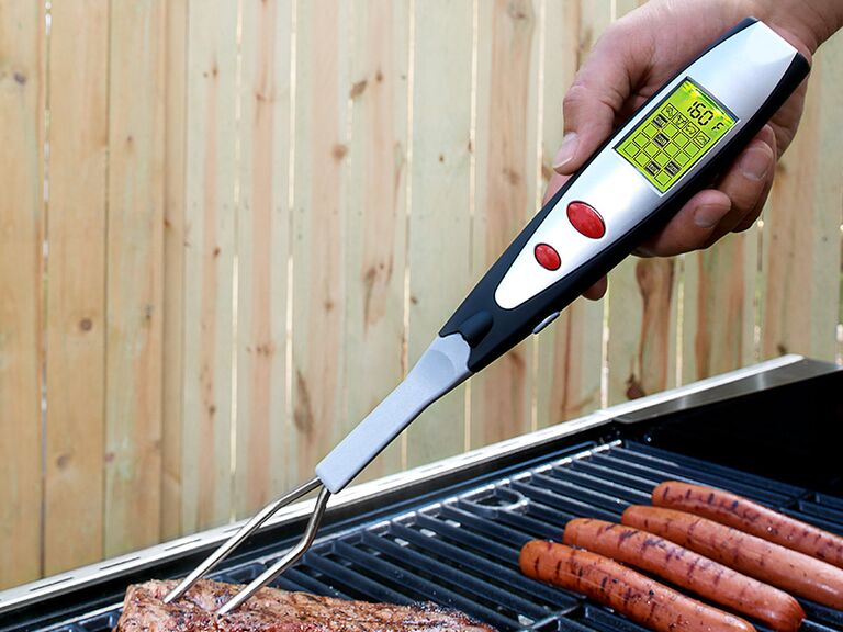 Digital thermometer barbecue fork gift for him