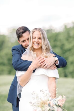 Couple Portraits for Microwedding at The Barn at Willow Brook in Leesburg, Virginia