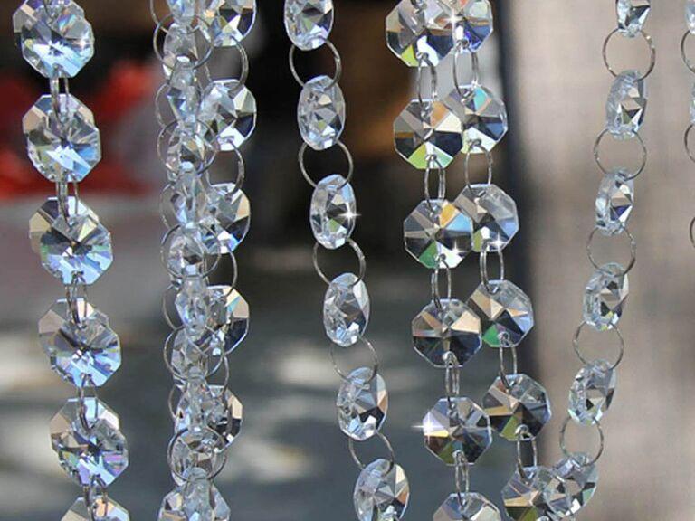 Backyard wedding ideas crystal garland