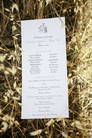 Rustic One-Page Ceremony Programs