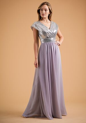 B2 Bridesmaids by Jasmine B223013 V-Neck Bridesmaid Dress