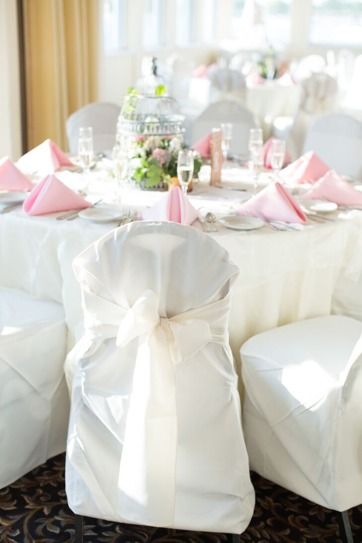 Fabric-Wrapped Reception Chairs