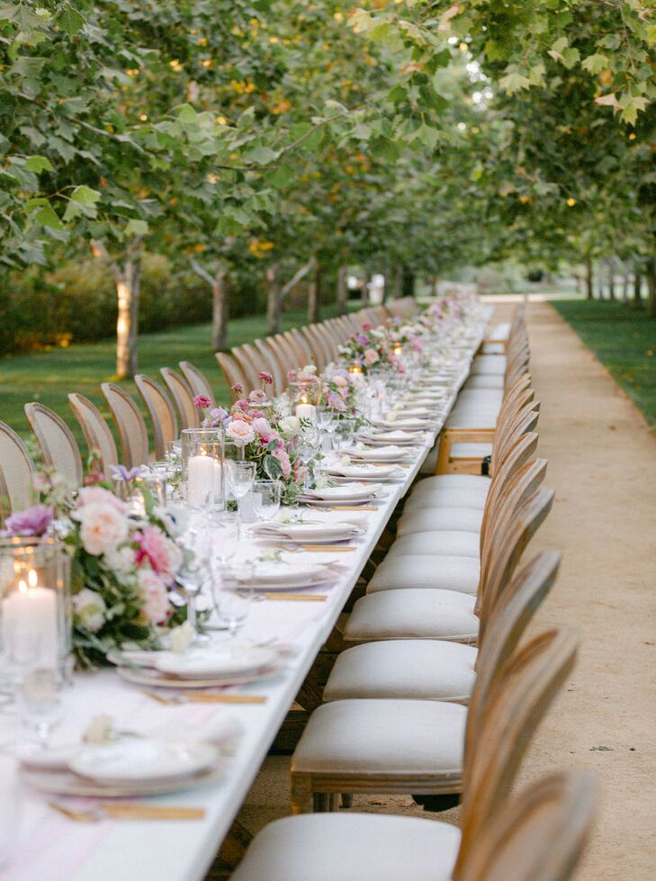 Long Communal Dining Table at Kestrel Park in Santa Ynez, California