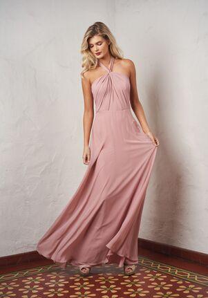 JASMINE P216063 Halter Bridesmaid Dress