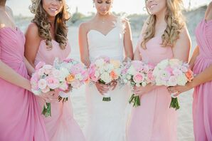 Colorful Pastel Bridal Party Bouquets