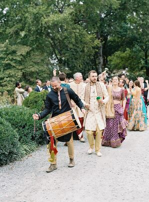 Baraat During Wedding at The Clifton Inn in Charlottesville, Virginia