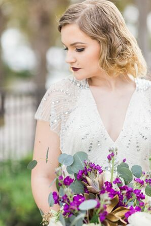 Curled, Faux Bob Wedding Hairstyle