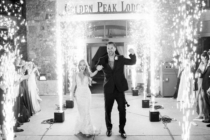 Grand Exit With Sparklers at Larkspur in Vail, Colorado