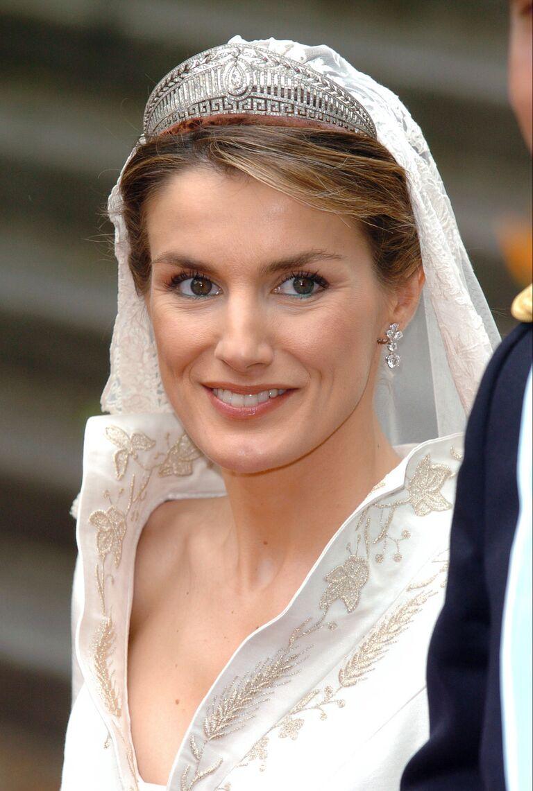 Queen Letizia on her wedding day