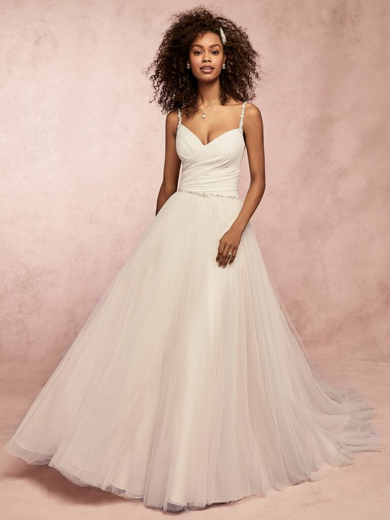 Rebecca Ingram Spring 2019 ball gown wedding dress with straps