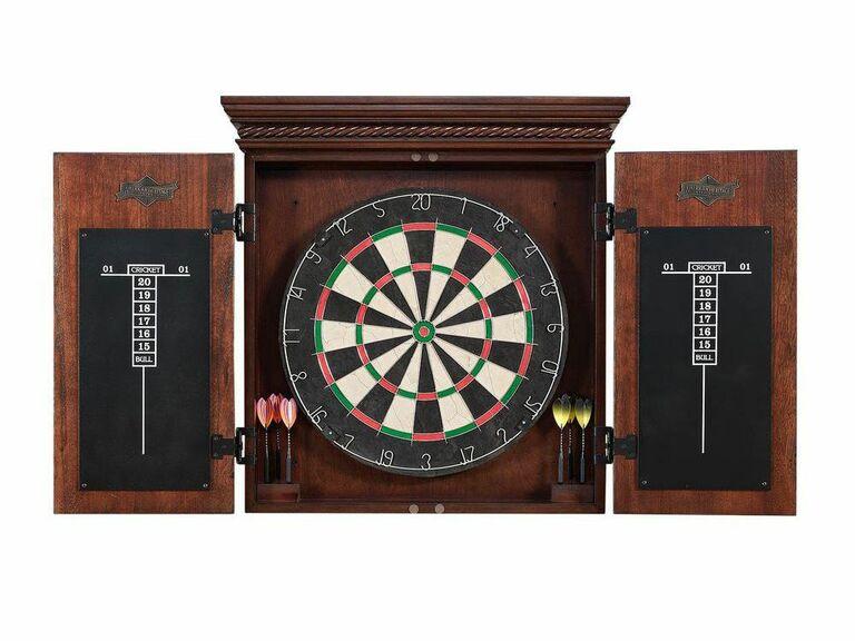Wooden dart board