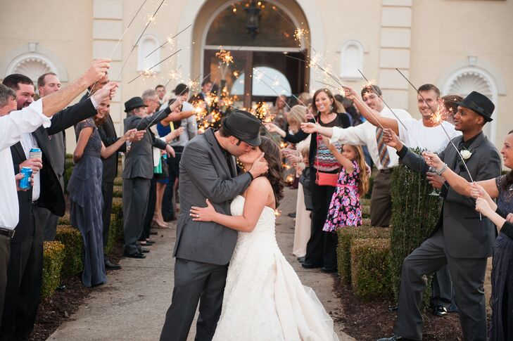 Tricia and Jim's Sparkler Exit