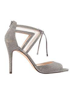 Nina Bridal Caleya Silver Shoe