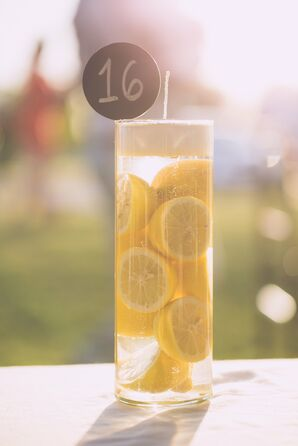 Lemon Wedge Candle Table Number