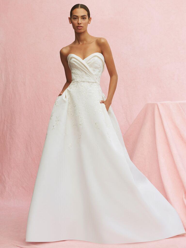 Carolina Herrera Musette strapless A-line wedding dress