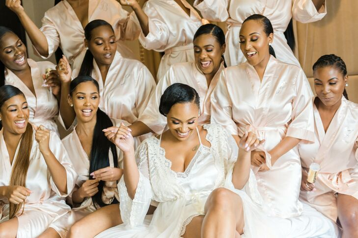 Bridal Party Getting Ready for Wedding at The University of Maryland
