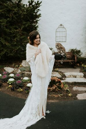 Boho Bride with Owl
