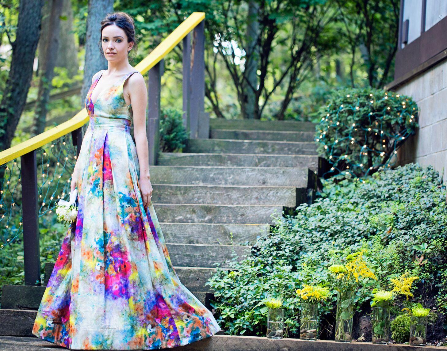 Alice And Olivia Chantal Floral Print Wedding Dress