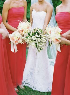 Rose and Hydrangea Bridesmaid Bouquets