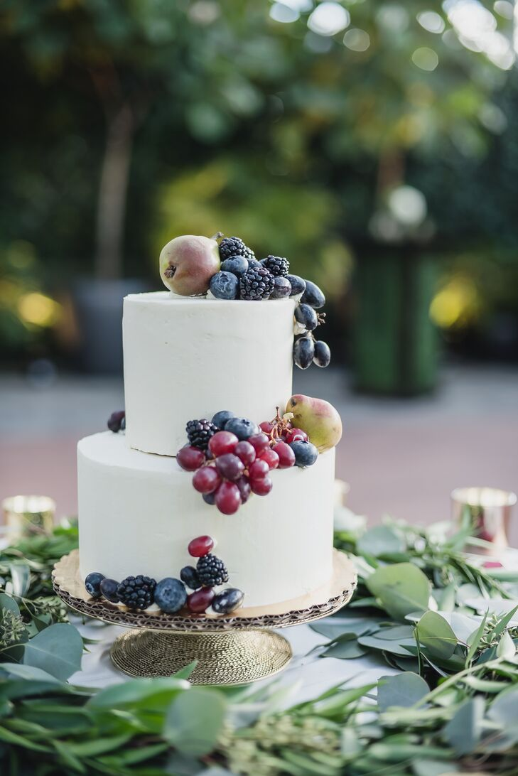 Sophisticated Fruit Adorned Cake