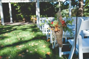 Burlap Flower Holder Aisle Decoations