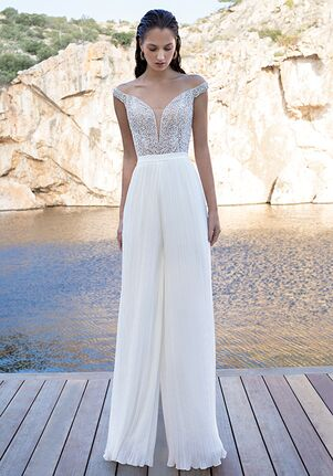 Demetrios DR297T+DR310P Sheath Wedding Dress