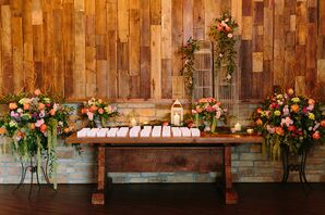 Bright Garden-Inspired Escort Card Table Arrangements