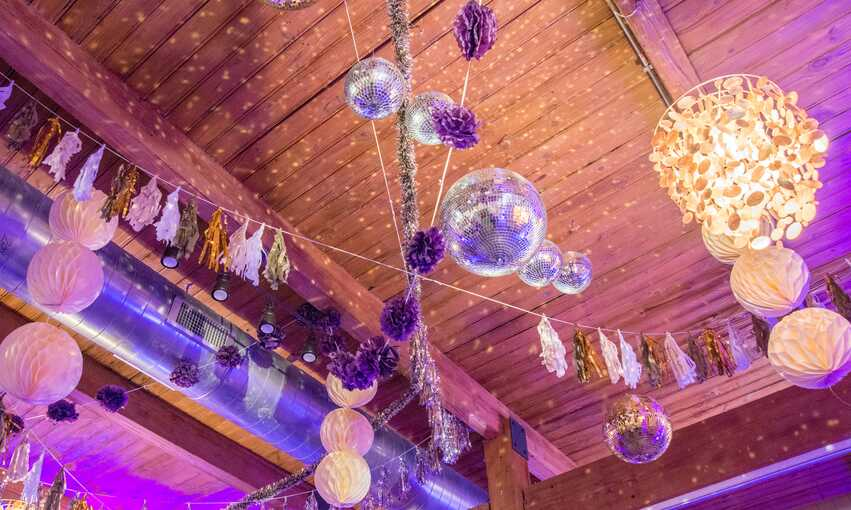 Modern Disco party themed inspiration and ideas