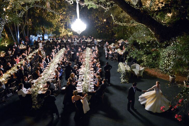 Outdoor Reception at Villa Woodbine in Miami, Florida
