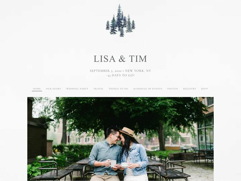 wedding website on the knot and couples who want to talk about the vaccine and testing