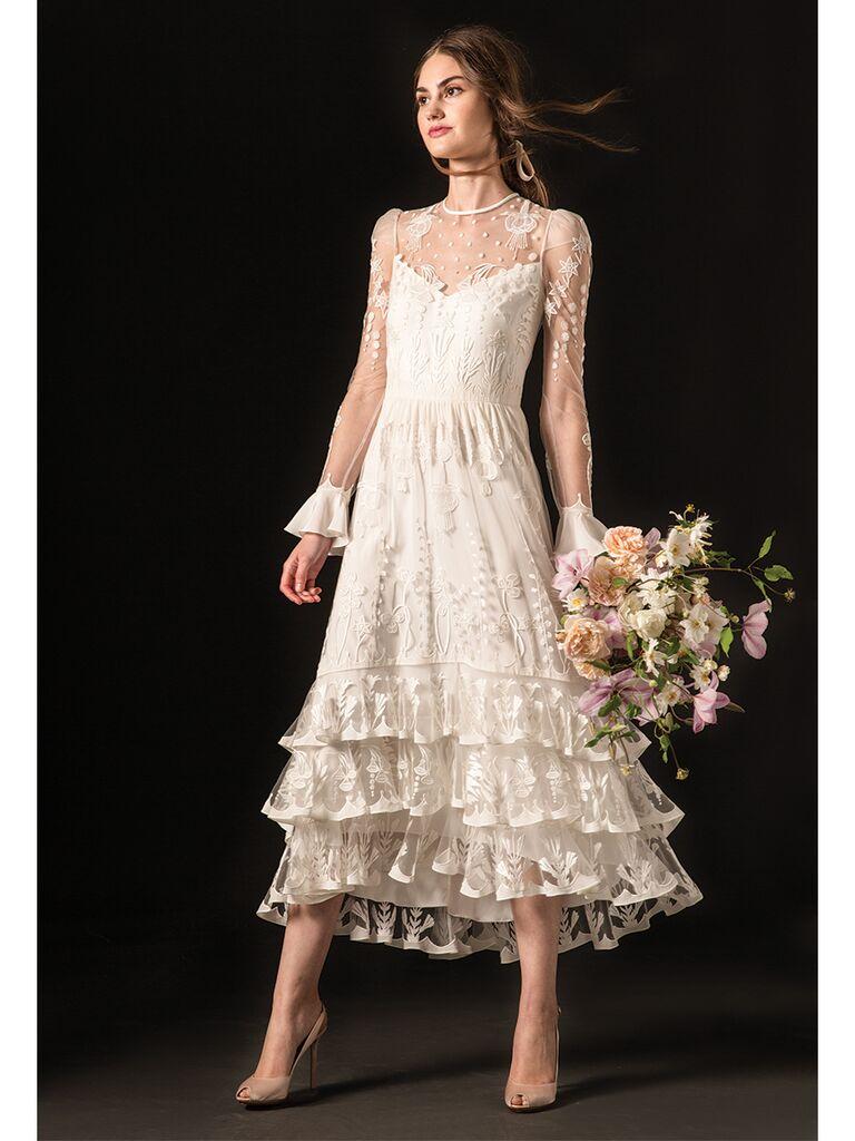 Temperley London Midi Wedding Dress
