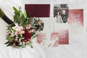 Watercolor Invitations with Custom Illustrations and a Save-The-Date