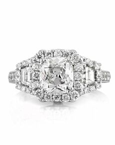 Mark Broumand Unique Cushion Cut Engagement Ring
