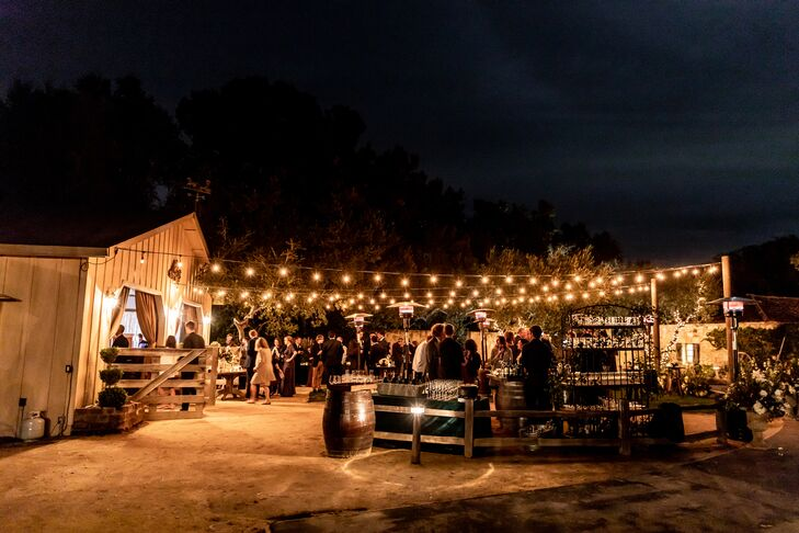 Outdoor Reception at Holman Ranch in Carmel Valley, California