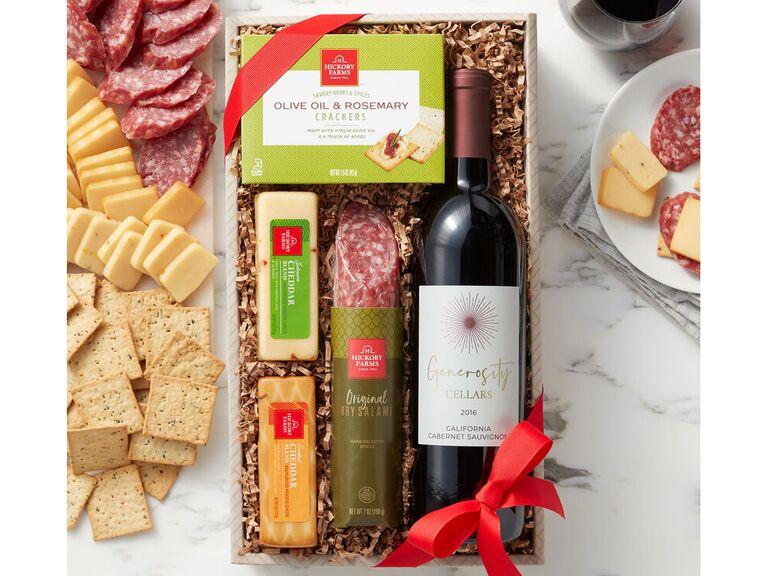Wine and cheese bridesmaid gift set