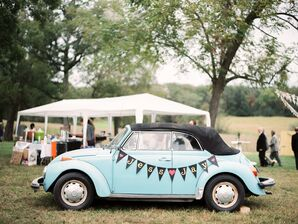 Vintage Pale Blue VW Bug Getaway Car