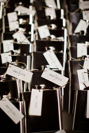 Engraved Flask Favors