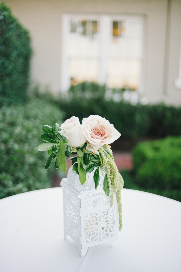 Low Rose and Amaranthus Centerpiece