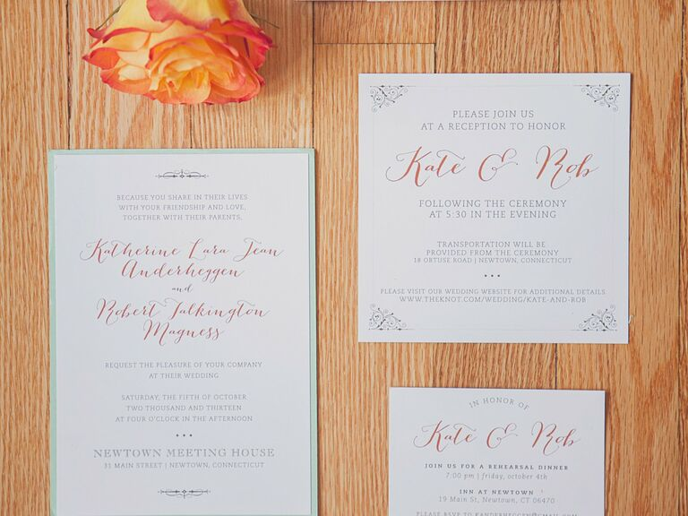 Real Wedding Invitations