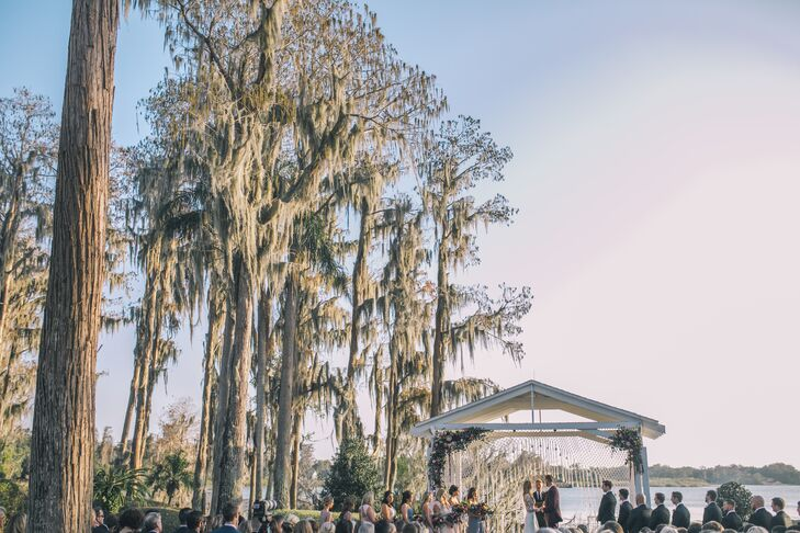 Outdoor Ceremony at Cypress Grove Estate House