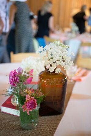 Simple Wildflower Centerpieces