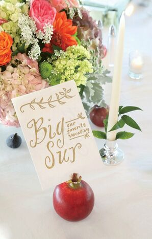 Fruit Table Number Holders