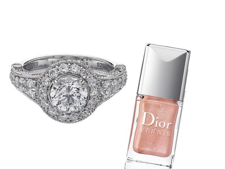 Christopher Designs art deco engagement ring