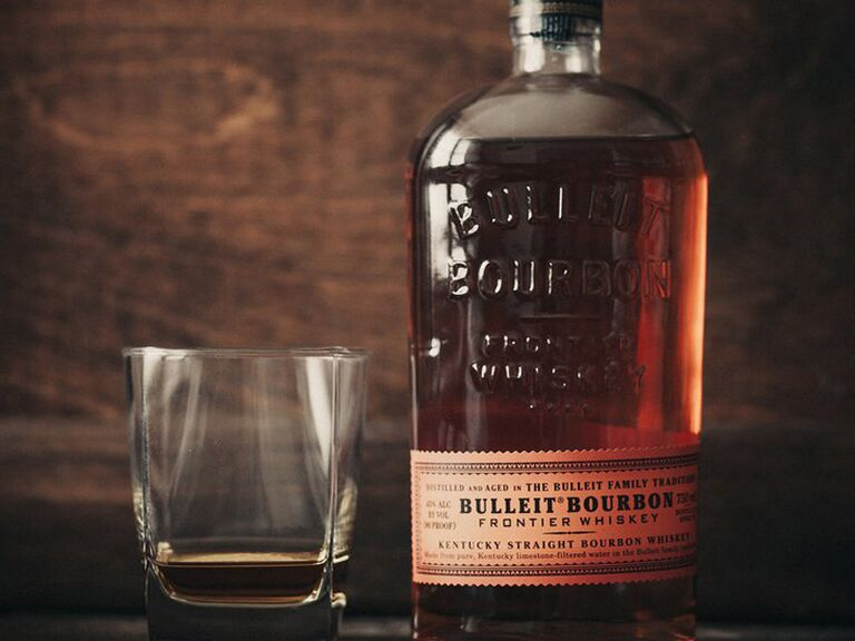 Bulleit bourbon engagement gift for him