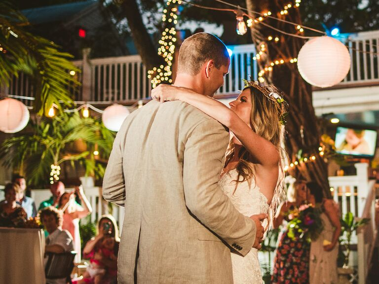 couple dancing at wedding in Key West, Florida