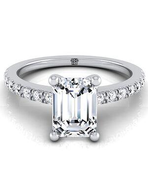 RockHer Classic Emerald Cut Engagement Ring